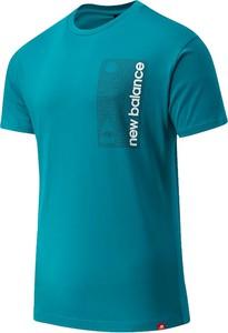 T-shirt New Balance w sportowym stylu z bawełny z krótkim rękawem