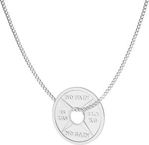 GIORRE SREBRNY NASZYJNIK TALERZ OBCIĄŻENIE DO GRYFU 925 : Długość (cm) - 60, Kolor pokrycia srebra - Pokrycie Jasnym Rodem