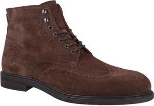 Buty zimowe Hackett London w stylu casual sznurowane
