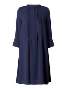 Granatowa sukienka Rich & Royal koszulowa z szyfonu z długim rękawem