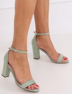 Sandały Obuwie Damskie ze skóry ekologicznej w stylu klasycznym