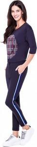 Granatowe spodnie L'AF w sportowym stylu
