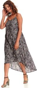 Sukienka Top Secret z dekoltem w kształcie litery v maxi na ramiączkach