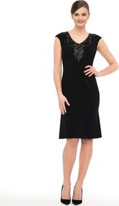 Czarna sukienka POTIS & VERSO z szyfonu