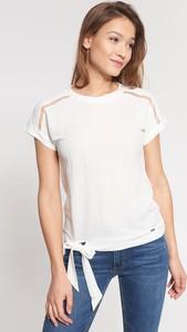 Bluzka QUIOSQUE z krótkim rękawem z okrągłym dekoltem
