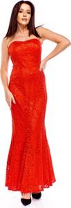 Czerwona sukienka Ptakmoda.com maxi gorsetowa
