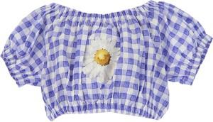 Niebieska bluzka dziecięca Monnalisa z bawełny