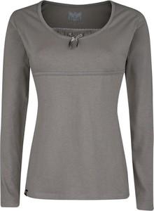 Bluzka Emp z długim rękawem z bawełny z okrągłym dekoltem
