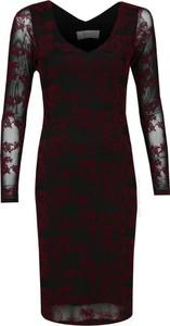 Sukienka Fokus ołówkowa midi z długim rękawem
