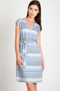 Niebieska sukienka QUIOSQUE w stylu casual mini