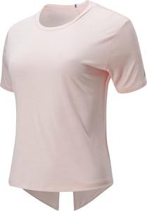 Bluzka New Balance z krótkim rękawem z tkaniny w sportowym stylu