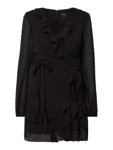 Czarna sukienka Bardot z długim rękawem w stylu casual