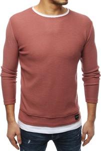 Różowy sweter Dstreet z tkaniny