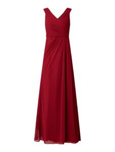 Czerwona sukienka Christian Berg Cocktail bez rękawów z dekoltem w kształcie litery v