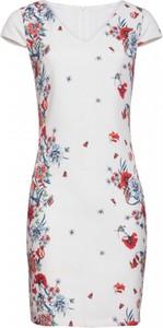Sukienka Smashed Lemon z tkaniny mini z krótkim rękawem