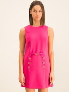 Różowa sukienka Elisabetta Franchi mini trapezowa