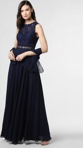Niebieska sukienka Mascara maxi bez rękawów