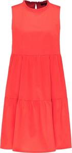 Czerwona sukienka Daniel Hechter mini bez rękawów