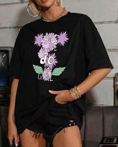 Bluzka Kendallme w młodzieżowym stylu z bawełny z krótkim rękawem
