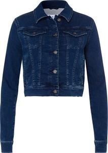 Granatowa kurtka Cross Jeans w stylu casual