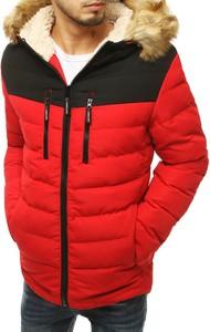 Czerwona kurtka Dstreet krótka w stylu casual