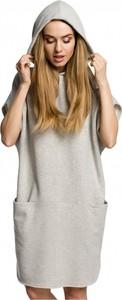 Sukienka MOE z krótkim rękawem z bawełny mini