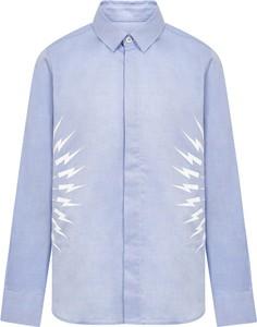 Niebieska koszula dziecięca Neil Barrett dla chłopców