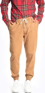Brązowe spodnie Gate z bawełny