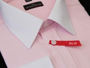 Różowa koszula krawatikoszula.pl z tkaniny