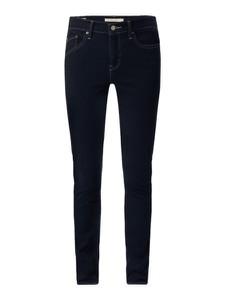 Granatowe jeansy Levi's® 300 w street stylu z bawełny