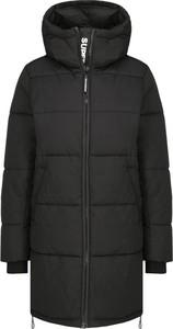 Czarny płaszcz Superdry w stylu casual