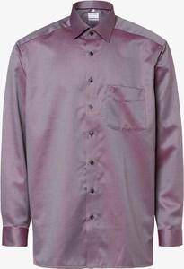 Fioletowa koszula Olymp Luxor Comfort Fit z bawełny