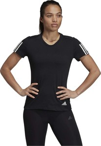 Czarny t-shirt Adidas z okrągłym dekoltem z bawełny w stylu casual