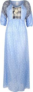 Sukienka Pinko z okrągłym dekoltem maxi