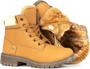 Buty dziecięce zimowe Royalfashion.pl sznurowane