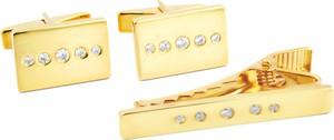 Northern Jewelry Złoty zestaw krótkich spinek z cyrkoniami 925s