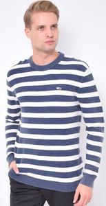 Sweter Tommy Hilfiger z okrągłym dekoltem w młodzieżowym stylu z bawełny