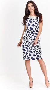 Sukienka Fokus z dekoltem w kształcie litery v w stylu retro midi