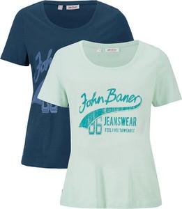 T-shirt bonprix z krótkim rękawem z okrągłym dekoltem w młodzieżowym stylu