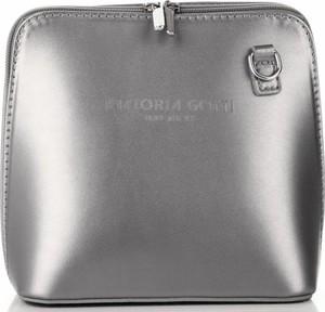 Srebrna torebka VITTORIA GOTTI na ramię średnia w stylu casual
