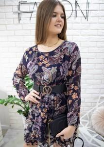 Sukienka Fason mini z szyfonu w stylu casual