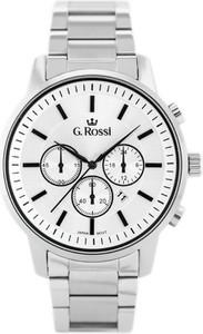 ZEGAREK MĘSKI GINO ROSSI - 6647B (zg201a) + BOX - Srebrny