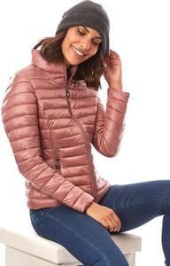 Różowa kurtka Snowie Collection krótka w stylu casual