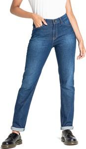 Niebieskie jeansy Lee w street stylu z bawełny