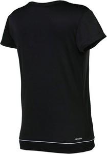 Czarny t-shirt Adidas Performance w sportowym stylu z okrągłym dekoltem