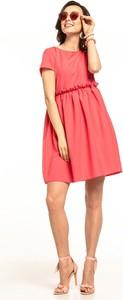 Sukienka Tessita mini z krótkim rękawem z okrągłym dekoltem