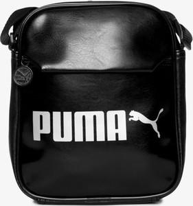 Czarna torebka Puma na ramię w sportowym stylu średnia