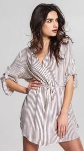 Sukienka Renee koszulowa w stylu casual z długim rękawem