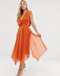 Pomarańczowa sukienka Asos maxi