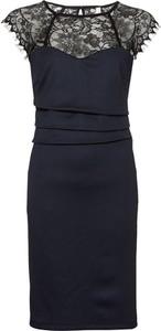 Czarna sukienka bonprix BODYFLIRT boutique z okrągłym dekoltem midi